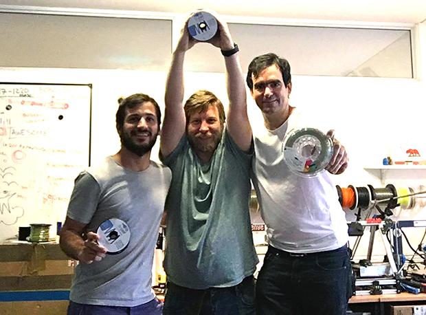 Guido Palazzo, Horacio Acerbo y Tobías Girelli, miembros del equipo B-pet