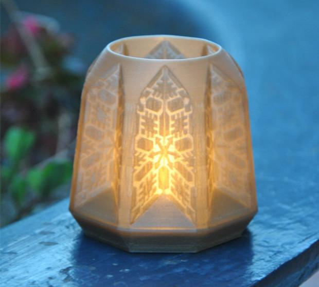 Drukowany w 3D lampion projektu Santosa