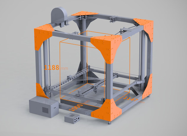 La BigRep propose un volume d'impression de 1,3 m³