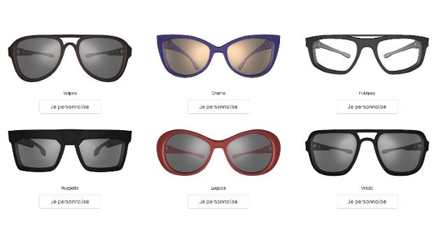 Glass'Yourself propose une large sélection de modèles