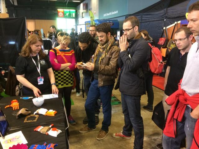 Le grand public a pu découvrir le projet lors de la Maker Faire Paris