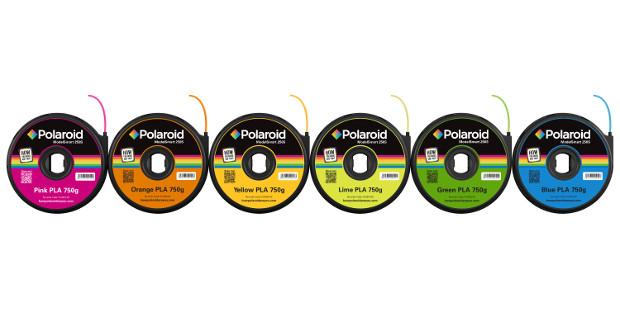 Les différents coloris proposés par Polaroid