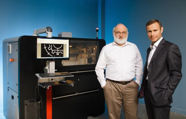 André-Luc Allanic, Respon R&D, et Raphaël Gorgé, Président de Prodways