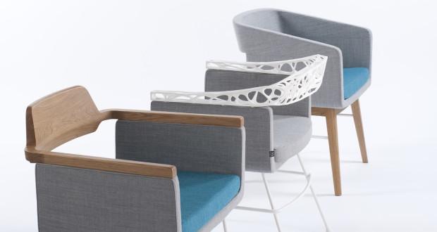 Wydrukowane w 3D wykończenia sprawiają, że fotele zyskują pewną lekkość.