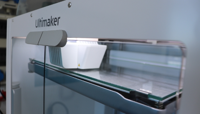 The Ultimaker S5 is used to implement the project.(Image credit: Pawsthesis)