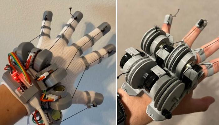 3D-gedruckte VR-Handschuhe