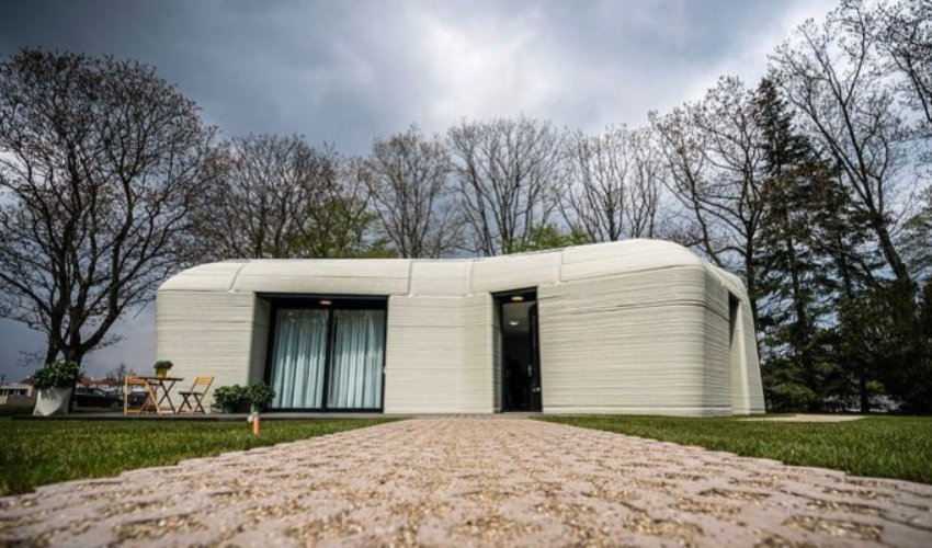 Niederländische 3D-gedruckte Haus