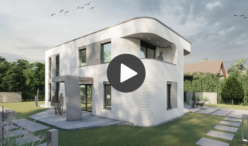 3D-gedruckte Einfamilienhaus