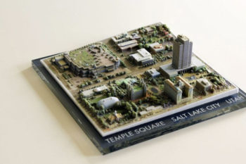 3D-gedruckte Landschaft direkt aus Google Earth