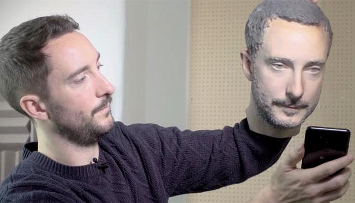 3D-gedruckter Kopf