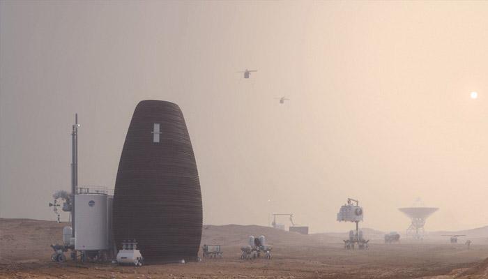 Wohnen auf dem Mars durch 3D-Druck