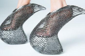 Schuh Mycelium: Plateauschuh mit Komfort dank des 3D-Drucks