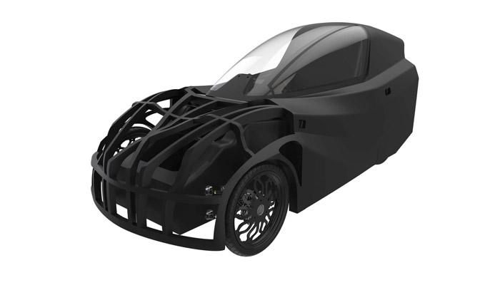 3D-gedrucktes Elektroauto