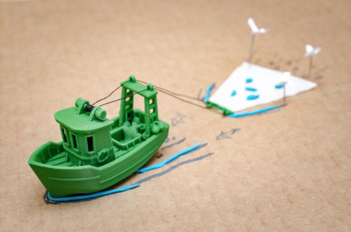 3D-gedruckte Boote