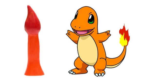 """""""Charmy ist ein leicht dünneres Pokemon vom Typ Feuer. Er hat einen flammenden Schwanz und misst 18 cm Länge und 4 cm Durchmesser an der breitesten Stelle."""""""