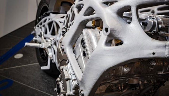 3D-gedruckte Motorrad BMW