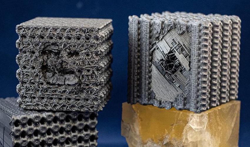 3D-gedruckte Polymerwürfel