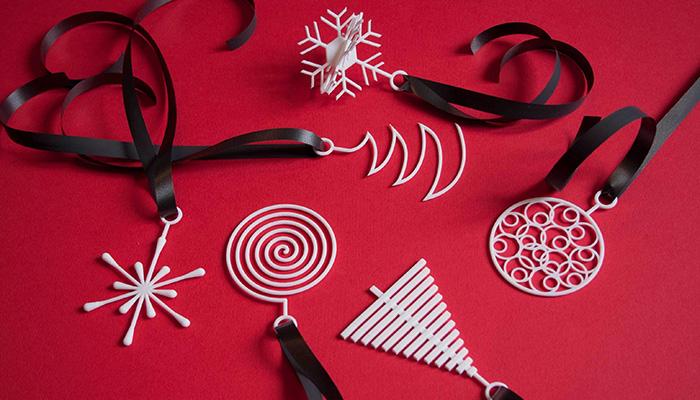 3D-gedruckte Weihnachtsdekoration