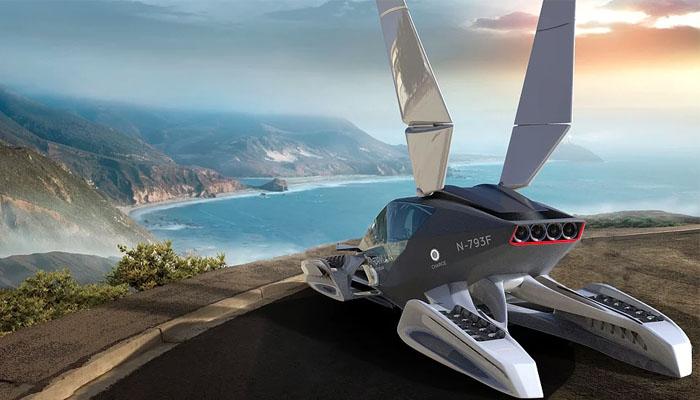 Formula-das fliegende 3D-gedruckte Auto