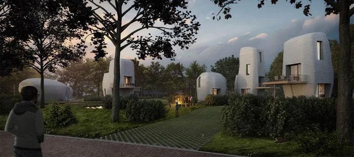 3D-gedruckte Häuser