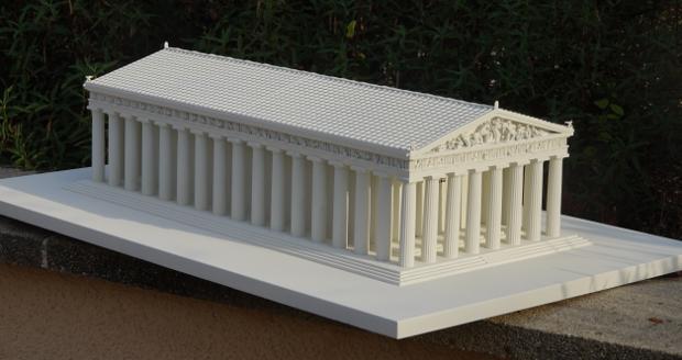Nachbildung des Parthenon mittels 3D-Druck