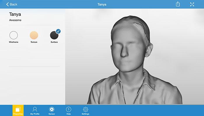 application de numérisation 3D