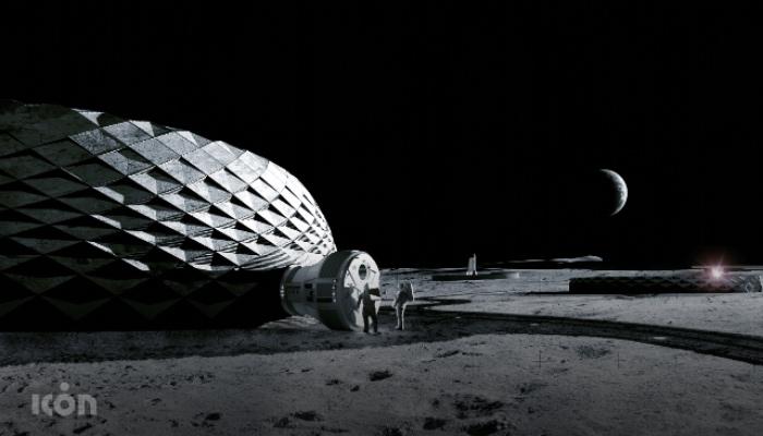 3D-gedruckte Infrastruktur auf dem Mond