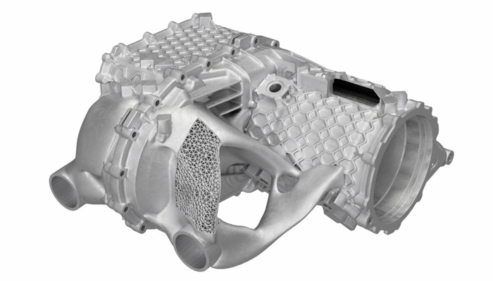 Topological optimization has made it possible to invent lighter lattice structures (photo credit: Porsche AG)