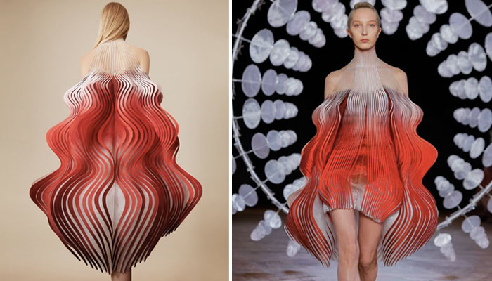 "The 3D printed dress, ""Synthesis"""