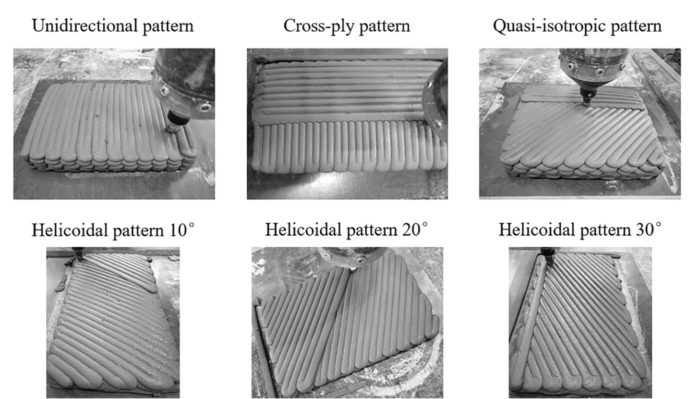 Different 3D printing patterns experimented by the RMIT research team (Photo Credit: RMIT University)