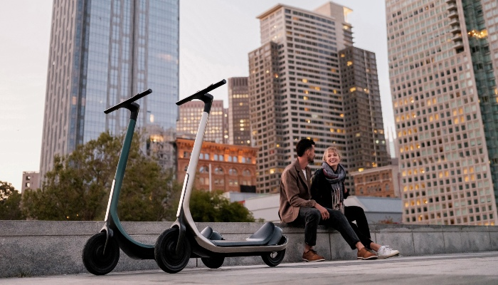 Scotsman 3D printed electronic scooters are available in 5 different colors.  (Image credit: Scotsman)