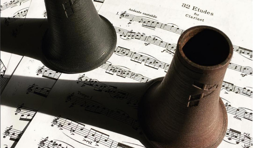 3D printed wooden clarinet bell by Pereira3d