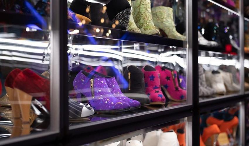 Prince Paisley Park shoe display