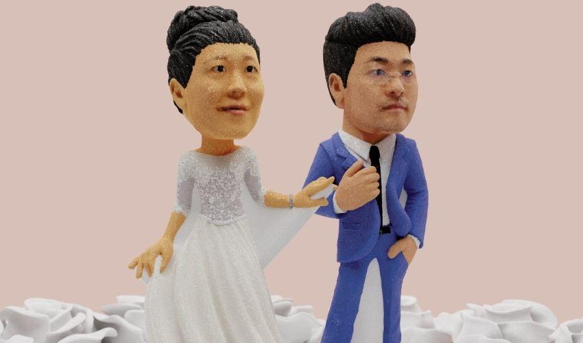 3D printed sugar wedding cake topper