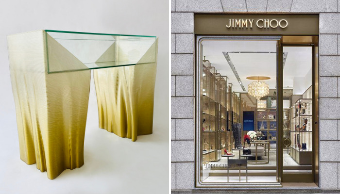 Jimmy Choo store in Milan.