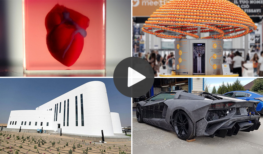 2012019 videos about 3D printing