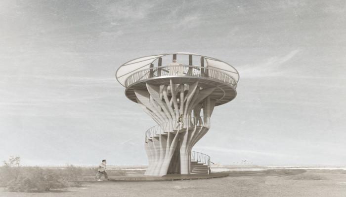 3D printed tower in Dubai