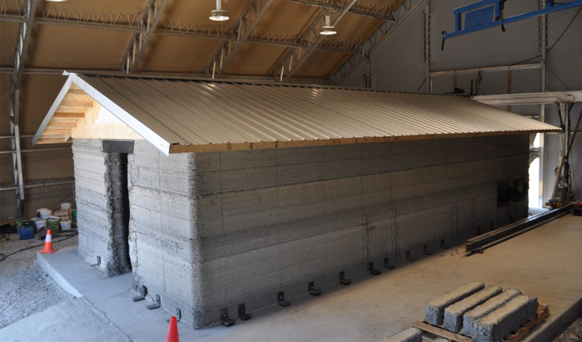 U.S. Army 3D prints their first concrete barracks