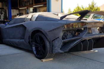 Father and son 3D print Lamborghini in their garage
