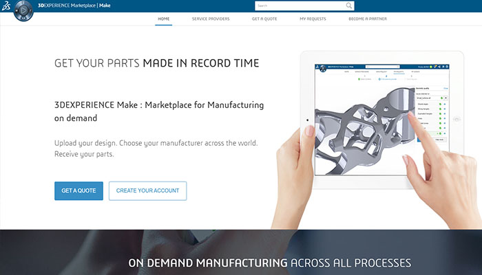 dassault on-demand manufacturing service
