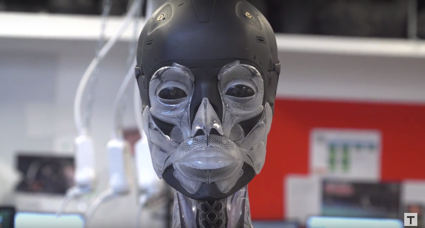 3D printed skeleton ghost in the shell