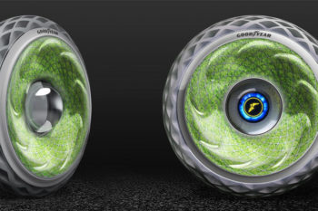 Oxygene, the 3D Printed Tire with Moss Growing In It