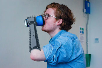 A student's low-cost 3D printed prosthetic arm provides tactile feedback
