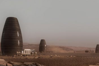 A 3D printed house to live on Mars?