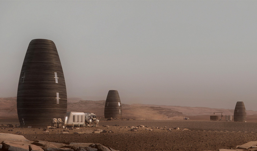 A 3d printed house to live on mars 3dnatives - 3d printed house usa ...