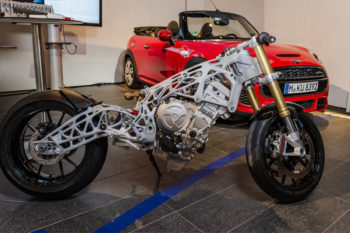 BMW incorporates 3D printed parts onto their new motorcycle