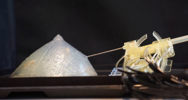 Researchers develop 3D printed breast cancer detecting robot