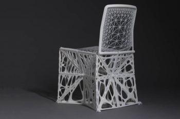 Foldable 3D printed TAMU chair presented at Milan Design Week