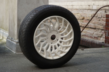BigRep 3D prints a wheel rim with a unique design