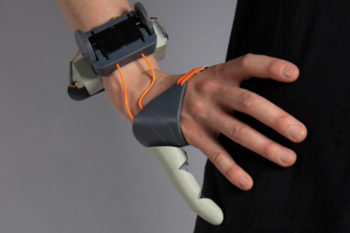 3D printed Third Thumb lends an extra finger